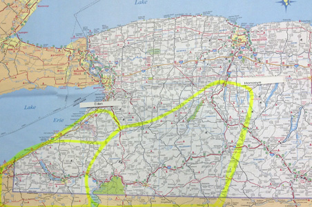 Map of Lindsey Refrigeration New York State service area.